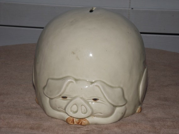 Vintage Ceramic Piggy Bank By Heartmarks On Etsy