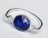 Sapphire Ring    Blue Sapphire Ring   Sterling Silver Ring   Blue Sapphire Gemstone Ring  Sapphire Jewelry  September Birthstone