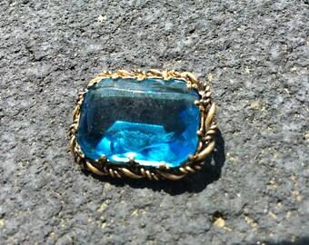 Something Blue brooch- Western Germany SALE