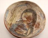 Ceramic Anvil Paddled Bowl - My Blue Dog