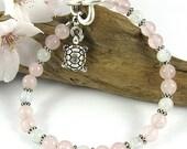 Heart's Desire Fertility Bracelet ~ Rose Quartz and Moonstone ~ Choice of Charm ~ Infertility