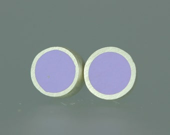 Resin Studs - Resin Sterling Studs - Purple Resin Studs - Lavender Resin Silver Posts - Lilac Resin Earrings - Sterling Resin Studs - Pastel