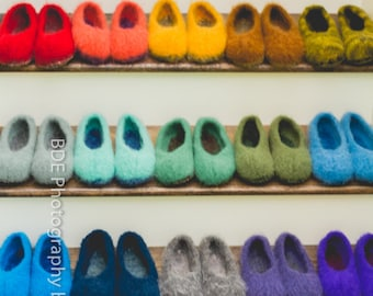 READY TO SHIP... Wool Felted Stull slippers ...