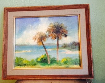 Jean Donnell palm tree painting