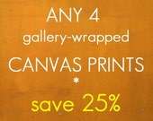 Discounted set - Any four gallery wrapped canvas prints - save 25%