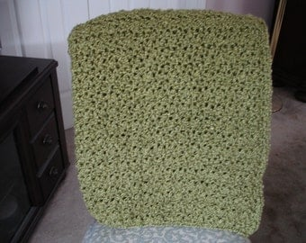 Apple Green Afghan Throw Blanket