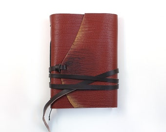 Cognac Leather Journal - Travel Leather Journal, Notebook, Antiqued Vintage Style Notebook - europeanstreetteam