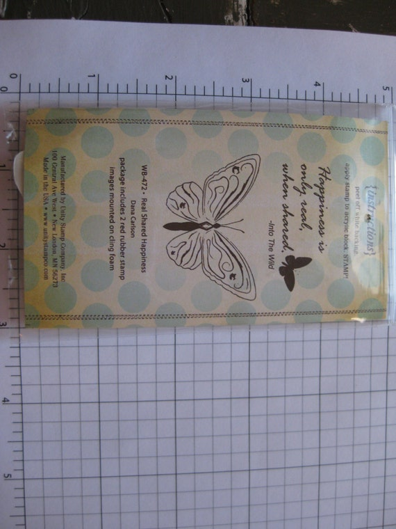 SUPPLY DESTASH - Unity Stamp - Itty Bitty - Real Shared Happiness Rubber Stamp