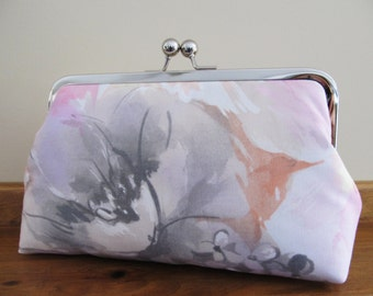 Bridesmaid Spring Floral Clutch,Bridal Accessories,Bridesmaid Gift, wedding Clutch