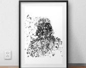 Darth Vader - A4 Giclee print - 320gsm art paper