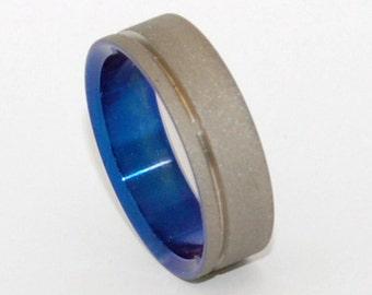 wedding rings, titanium rings, wood rings, mens rings, Titanium Wedding Bands, Eco-Friendly Rings, Wedding Rings - LOVES BRIGHT LIGHT