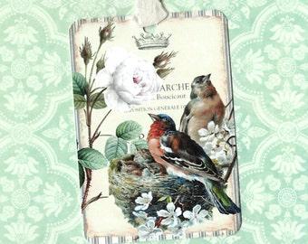 Tags, Bird Gift Tags, Bird Lover, Nesting Bird Tags, Nest