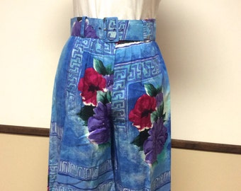 Vintage Women's Shorts by Fritzi California floral print high waist