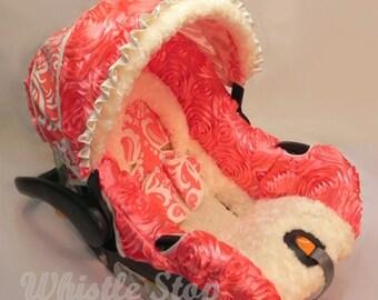 Custom Car Seat  Replacement Covers 3D Rose Satin
