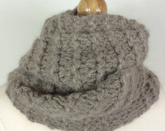 Hand Knit Scarf - SOFT TAUPE