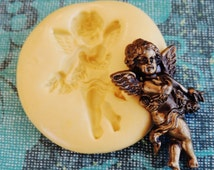 Cherub Mold | Silicone Push Molds | Polymer Clay Resin Chocolate Fondant Jewelry Food Mold | Flexible Angel Moulds