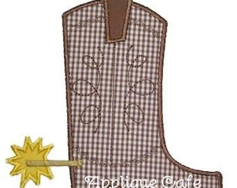 010 Cowboy Boot Machine Embroidery Applique Design