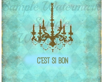 C'est Si Bon...and it IS good..Blank Paris Market Style Greeting Card with Envelope (41/4x51/2- A2)