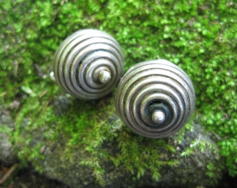 VINTAGE spiral magickal sterling silver earrings MEXICO taxco