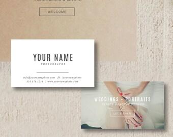 Business Cards - Photographer Business Card Template -  Photography Business Card Design - Photo Card Template - Photographer Branding