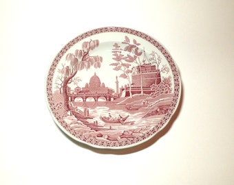 """Spode Archive Collection - Rome Theme 10 1/2"""" Cranberry Dinner Plate - Georgian Series - Made in England"""