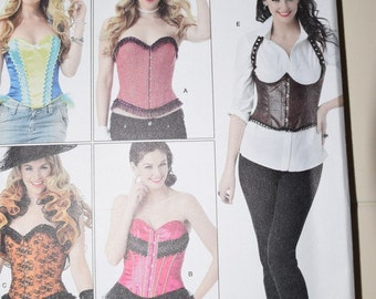 Simplicity 1345 Misses Corsets and Ruffled Shrug by Andrea Schewe