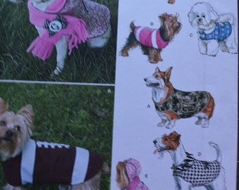 Simplicity 1239 Dog Coats in three Sizes (uncut) S-L by Patty Martin Designs