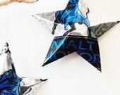 Schlitz Malt Liquor Beer Stars Christmas Ornaments Aluminum Can Upcycled