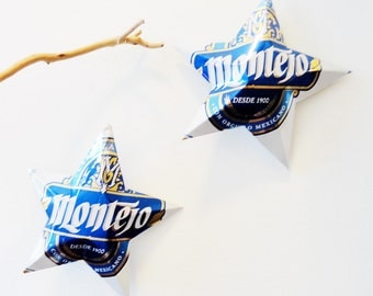 Montejo Aluminum Beer Stars, Mexican Cerveza