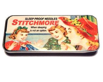 Magnetic Needle Case Needle Slider Case StitchMore Funny Sewing Needles