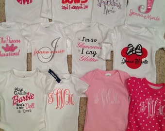 Custom onesies or tshirts... Personalized just for you!