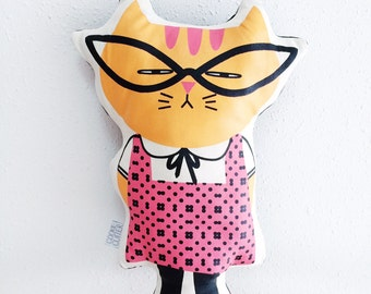 Silkscreen Cat Plush