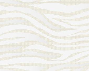 SALE - Camelot Fabrics - Heavy Metal Collection - Zebra in Metallic Silver