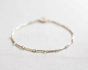 Links Bracelet | 14kt Gold Filled or Sterling Silver | Delicate Chain Bracelet | Minimal Bracelet