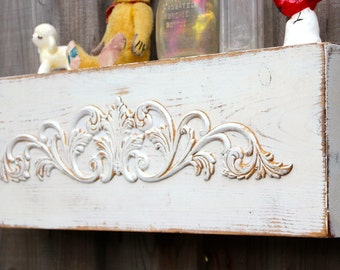 OVERSTOCK - READY to SHIP - Floating Shelf - Ledge - Shabby - Cottage Chic Decor - 24 Long x 5 Deep x 8 Tall - Farmhouse - Country Cottage