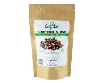Gunpowder and Rose Organic Artisan Loose Leaf Tea by Cozy Leaf