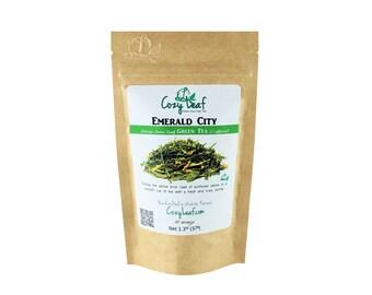 Emerald City Organic Artisan Loose Leaf Tea by Cozy Leaf