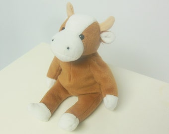 toys / kids / 90s vintage / toy cow calf / beanie baby / bessie the cow / 9 height / savannahwillow