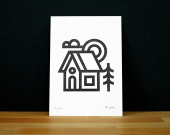 House Letterpress Print