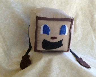 "Tiny Box Tim Plushie! Plush Toy. 4.5"" cube, Pillow. Markiplier Youtuber."
