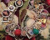 Disney's Mulan Altered Art Upcycled Charm Bracelet