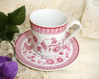 Vintage ChinaTea Cup Saucer Demi S. Paulo Brazil China  Shabby Cottage