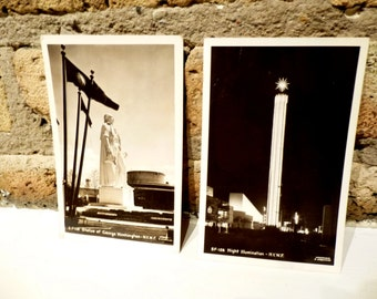 Two NYWF Postcards. Postmarked from the Worlds Fair. 1939 Underwood Postcards