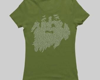 Walt Whitman - Women's T-Shirt - White on Green (Griot Apparel)