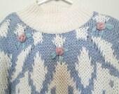 Floral Knit Sweater - Large - Carolina Colours