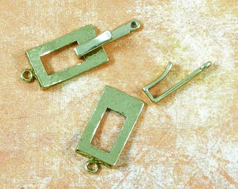 Gold Finish Hook and Eye Necklace Clasp 60% off, qty 2