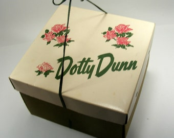 Vintage Hat Box Dotty Dunn Millinery Hat Shop