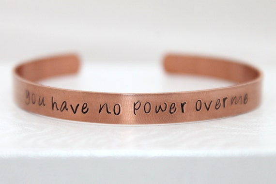 Labyrinth Movie Quote, David Bowie Inspired, You Have No Power Over Me, Labyrinth Jewelry, Labyrinth Bracelet, Copper