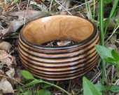Wood Bangle Bracelet - Eco-friendly Wood Wooden Bangle Bracelet (Size M/L) - Natural Jewelry Gift or 5-Year Anniversary Gift