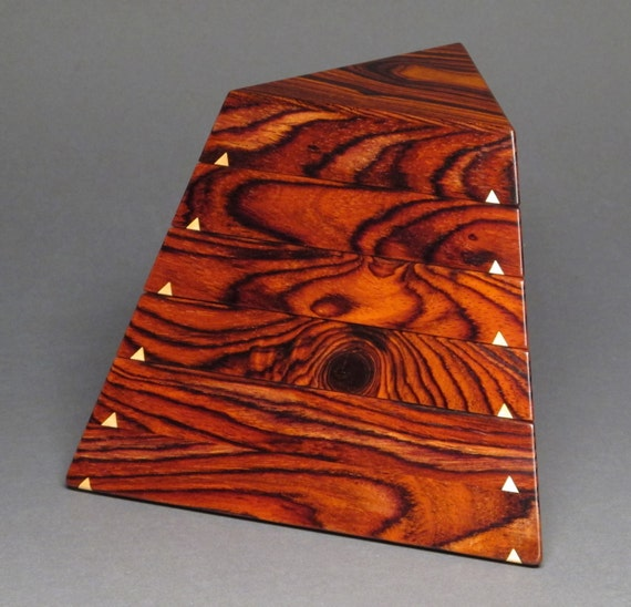 Jewelry Box, Cocobolo and Maple, 'The Trapezoid Box'